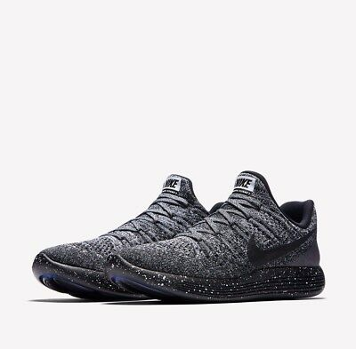 new concept ccfcb 7203e NIKE LUNAREPIC LOW Flyknit 2 Mens Running Shoes 8 Black White Blue 863779  041