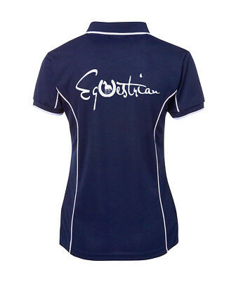 Horse Polo Shirt Equestrian Brand New Many Colours To Choose From Sizes 8-24
