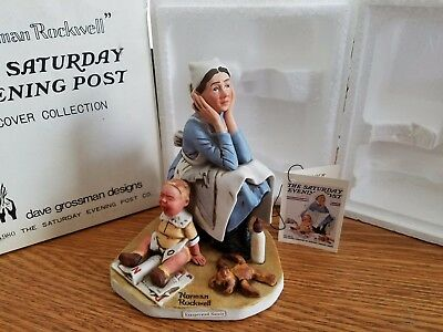 Norman Rockwell Exasperated Nanny In original Box NR 35