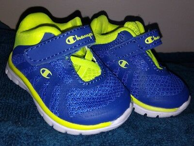 68d35d930e73bd Champion Gusto Baby Infant Boys Shoes Athletic Sneakers Tennis Blue Neon  Girls 1