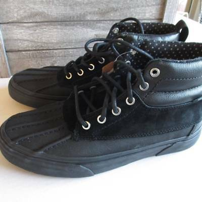 780657bea8 Vans All Weather MTE Mens 7.5 Women 9 Black High Top Duck Boots Sneakers New