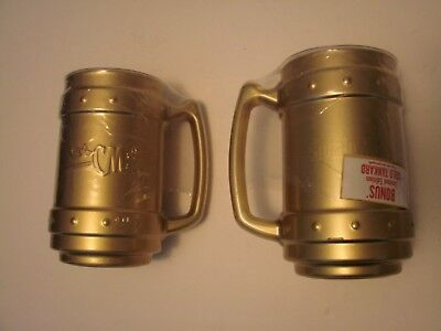 Pair of Limited Edition Captain Morgan Gold Tankards