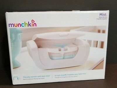 Munchkin Mist Wipe - Warmer Misting system & warming system holds 100 wipes