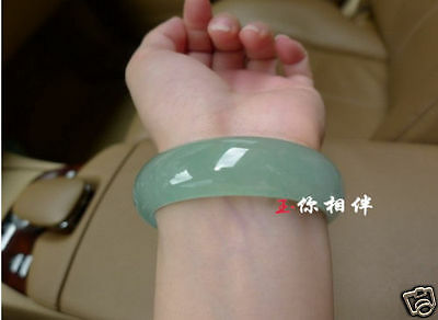 Chinese beautiful Natural Grade A Jade Jadeite Bangle Bracelet 60-62mm