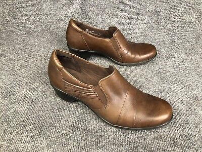 CLARKS BENDABLES WOMENS Flats Brown Loafer Slip On Casual