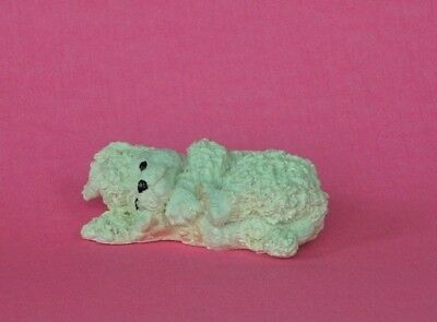 1992 New Kathy Wise Laying White Poodle  Figurine By Enesco