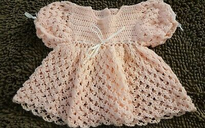 Handmade*Pink Vintage Babydoll Sweater*Size 18-24mos*EVC