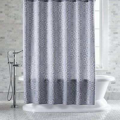 Crate And Barrel MARIMEKKO KIOTO BLUE SHOWER CURTAIN NEW NWOT READ