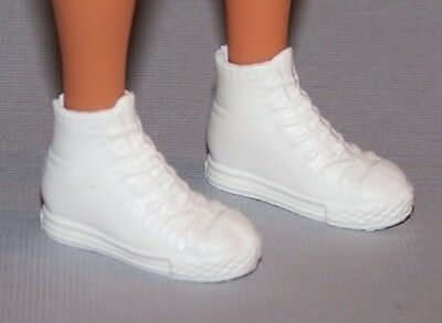 Barbie Doll Shoes Fashionista Evolution Curvy Tall White High Top Sneakers