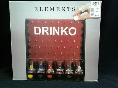 DRINKO Shot Glass Drinking Party Game by Elements like Plinko