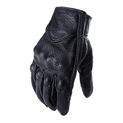 Icon Pursuit Touchscreen Leather Motorcycle Riding Perforated Gloves