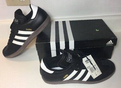 best service ae1a0 05b09 Adidas Samba Classic Black White Indoor Soccer Shoes Trainers Gum Size 8