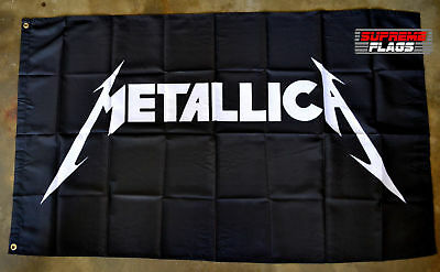 Metallica Flag Banner 3x5 ft Heavy Metal Band Black