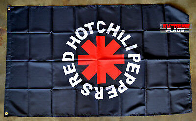 Red Hot Chili Peppers Flag Banner 3x5 ft RHCP Rock Band Music Garage Black