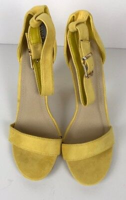NWT Wet Seal Cape Robbin Yellow Suede Sandals - size 9