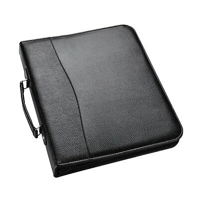 A4 Conference Folder With Handle Ringbinder Folio with Zipper Soft Padded CL-210