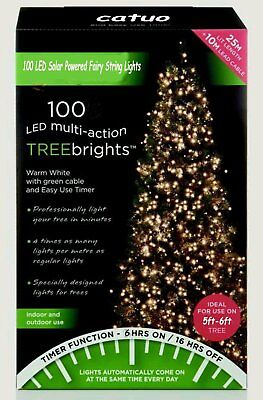 100LED( 200cm) Premier TreeBrights Cluster Christmas Tree Lights in Warm White