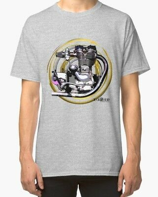 Royal Enfield Bullet vintage retro Motorcycle engine TShirt INISHED Productions