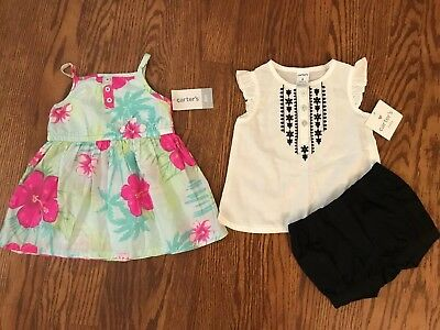 Girls Carters 6 Month Summer Shorts Outfit and Dress NWT New With Tags