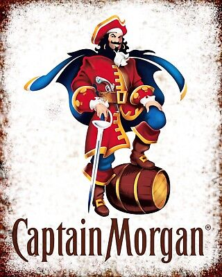 10 x 8 CAPTAIN MORGAN SPICED RUM METAL PLAQUE TIN SIGN OTHER ONES ARE LISTED 606