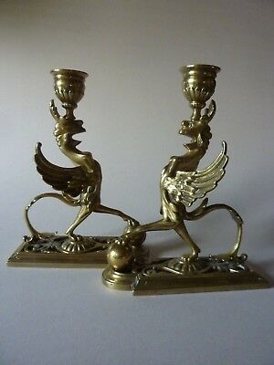 William Tonks & Sons. Griffin Candlesticks
