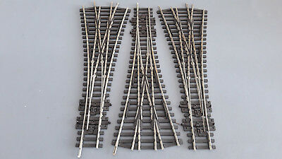 Peco Manual 3-Way Points X 3 Very Good Condition Unboxed Oo Ho Gauge(Gb)