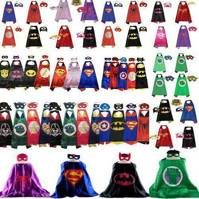 Hot kids' cape (cloak + mask) birthday party favors and ideas for children