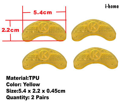 Shoes Heel Protector 2 Pairs Sole Saver Plates Taps Repair Glue On Handy yellow