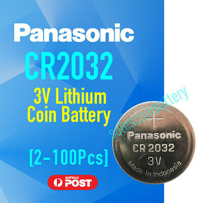 Panasonic CR2032 2032 3v Coin Cell Lithium Battery f Watch Alarm Camera