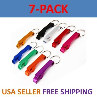5pcs Key Chain Keychain Ring Beer Bottle Can Opener Beverage Metal Color USA