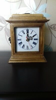 Reproduction Carriage Clock Hand Made Solid Wooden Casing