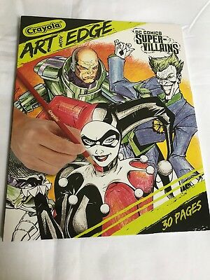 Crayola Art With Edge Dc Super Villains Coloring Book Includes 30