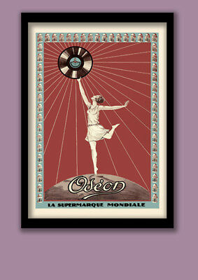 French Art Deco Poster . Odeon Records advertising poster . Large A2 (60x40cm)