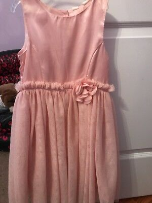 Girls H&M Pink Flower Sparkle Ruffle Dress-6/7- Awesome!