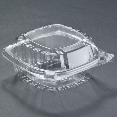 A World Of Deals Small Clear Plastic Hinged Food Container for Sandwich Salad