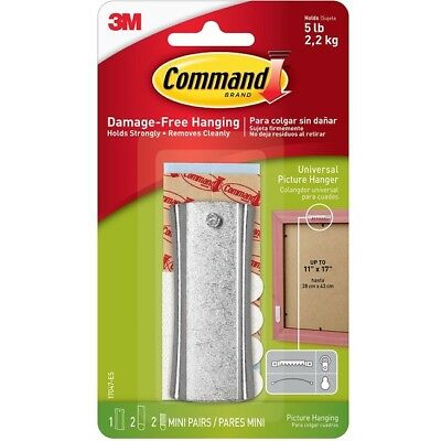 3M COMMAND 17047 | Sawtooth Sticky Nail Metal Picture Hanger | Holds 2.3kg