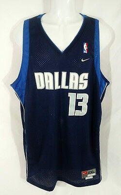 3dea89961b0 VINTAGE STEVE NASH Dallas Mavericks Mavs Nike Swingman Jersey Sz 2XL ...