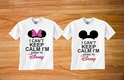 Mickey And Minnie Ears I Cant Keep Calm Im Going To Disney Matching Tshirt