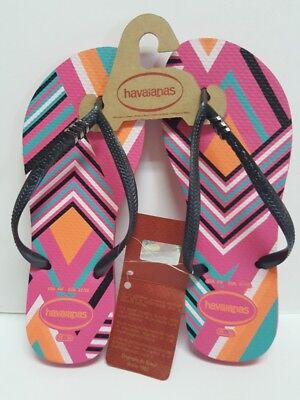 dc9f83a3c5b0 NWT Havaianas Tribal Flip Flops Size 6 Shocking Pink Authentic