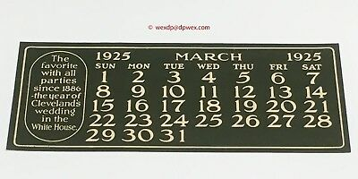 Original Coca Cola 1925 Calendar March page for Girl at Party Theme MN+