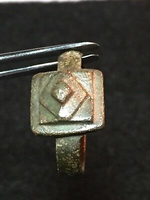 medieval rings, Bronze With Pyramid Design