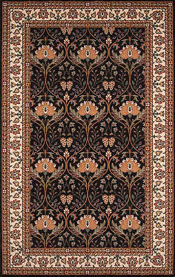 Arts & Crafts William Morris Style Hand Tufted Wool Area Rug **FREE SHIPPING**
