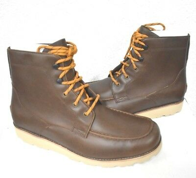 b8f8c78a9d4 UGG AUSTRALIA 'NEUMEL' Dark Brown Leather Lace Up Ankle Boots Men's ...