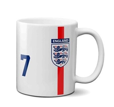 England Football Retro David Beckham World Cup Mug