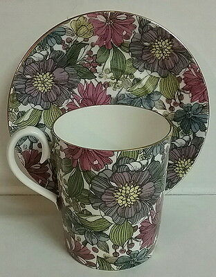 Camelot Pattern Cup & Saucer Royal Albert English Bone China Mid Century Florals