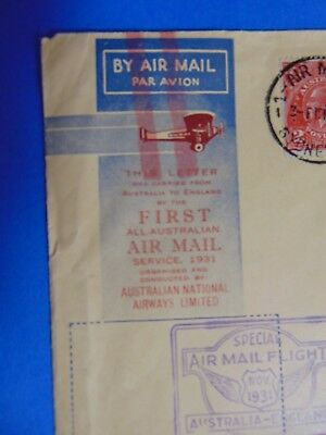 Flight - Australia to England by the First All-Australian Air Mail Service 1931