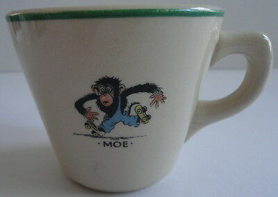 Oswald Rabbit Santone Fe Miny Mo Childrens Warwick China Mug Green Trim c.1946
