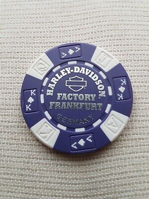 "1 originaler Harley Davidson Pokerchips "" Factory Frankfurt  Germany"""