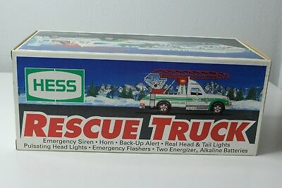 HESS 1994 Rescue Truck NIB Original Gas Coupon Included