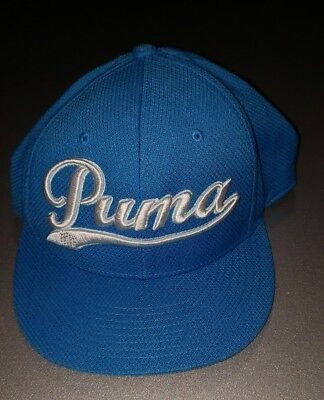 752e8e8349ccf PUMA Golf Blue Adjustable Hat Men Cap